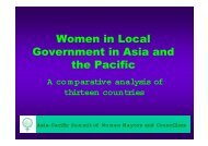 Women in Local Government in Asia and the Pacific - CAPWIP