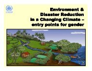 Environment and Disaster Reduction in a Changing Climate - CAPWIP