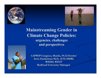 Mainstreaming Gender in Climate Change Policies - CAPWIP