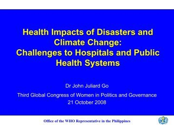Health Impacts of Disasters and Climate Change - CAPWIP