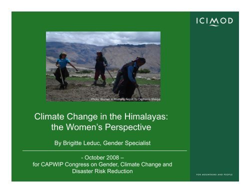 Gender and Climate Change in the Himalayas - CAPWIP