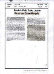Parpol dan 0rmas Menyatu - Sragen