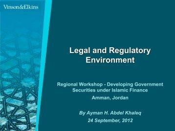 Presentation ENG Legal and Regulatory Framework ... - METAC