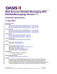 WS- ReliableMessaging - docs oasis open - Oasis