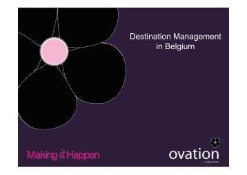 dU Presentation Destination Management in Belgium