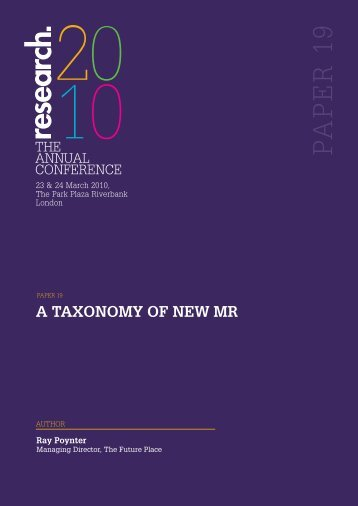 A TAxonomy of new mR - Research-live.com