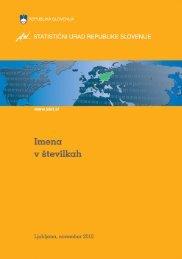 Imena v številkah - Statistični urad Republike Slovenije