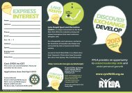 RYLA promotional brochure - Rotary District 9650