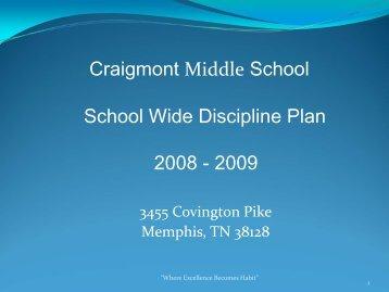 CMS School Wide Discipline Plan - Memphis City Schools