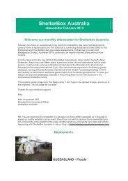 ShelterBox Australia eNewsletter Feb2013.pdf - Rotary District 9650