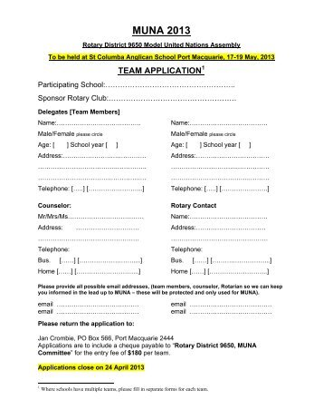 MUNA 2013 Application forms.pdf - Rotary District 9650