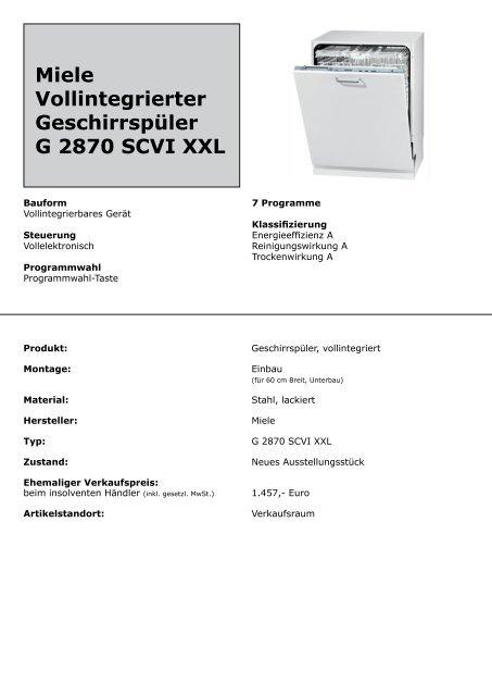 Vollintegrierter Geschirrspuler Elektrogerate Kuchengerate