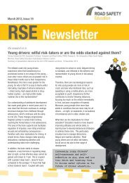 March 2013 Newsletter - Road Safety Education