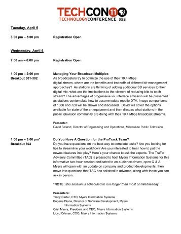 to view our current agenda! - PBS