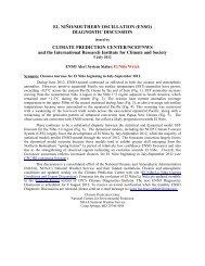 EL NIÑO/SOUTHERN OSCILLATION (ENSO) DIAGNOSTIC ... - WMO