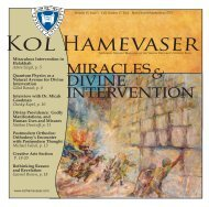 Miracles and Divine Intervention - Kol Hamevaser