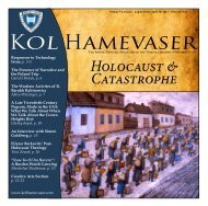 Holocaust & Catastrophe - Kol Hamevaser