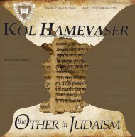 The Other in Judaism - Kol Hamevaser