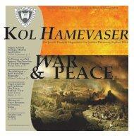 War and Peace - Kol Hamevaser