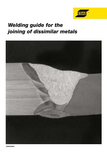 Welding guide for the joining of dissimilar metals