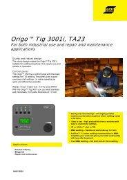 Origo™ Tig 3001i, TA23