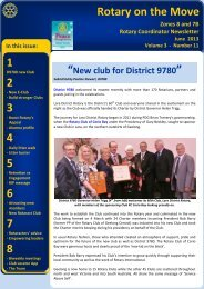Download latest edition of Rotary on The Move ... - ClubRunner