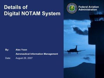 Digital Airport NOTAMs - NFDC - FAA