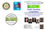 Public Speaking brochure - Rotary District 9650