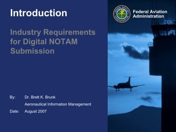 Digital NOTAM submission - NFDC - FAA
