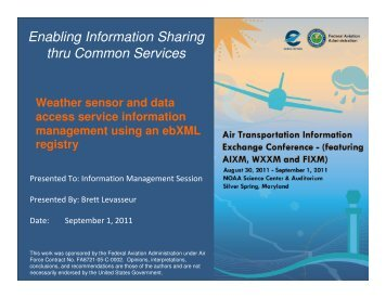Weather Sensor and Data Access Service Info Management ... - AiXM