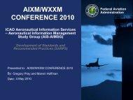 AIS/AIM Working Group - AiXM