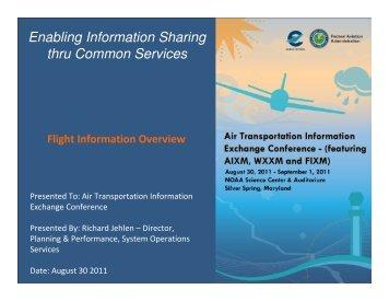 Flight Information Exchange Model (FIXM) introduction (Rich ... - AiXM