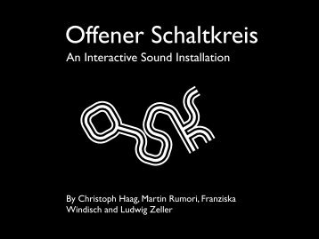 An Interactive Sound Installation - OSK