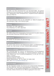 Organisatorisches - Regierungspräsidium Freiburg Fachstelle für ...