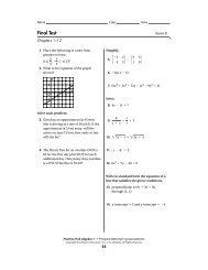 Algebra Review Summer Packet - MathChamber