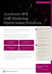 Accelerate ROI with Marketing Optimisation Solutions. - Urban Science