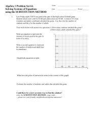 Unit 6 Problem Set A - MathChamber