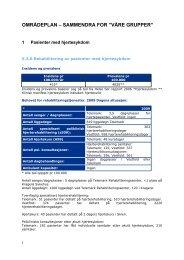 Områdeplan for rehabilitering - Sykehuset Telemark