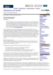 developerWorks: Linux : Mastering Linux debugging techniques - Free