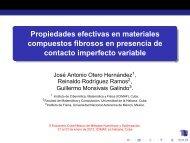 Propiedades efectivas en materiales compuestos fibrosos en ...