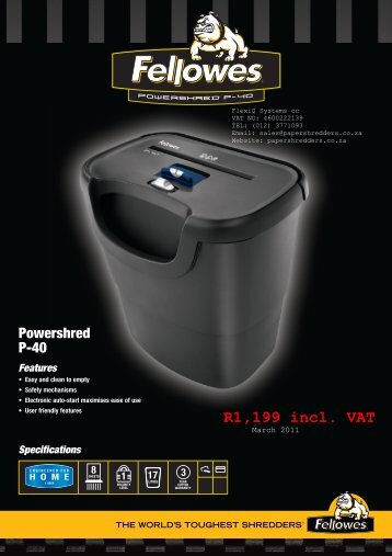 Powershred P-40.pdf - Shredder