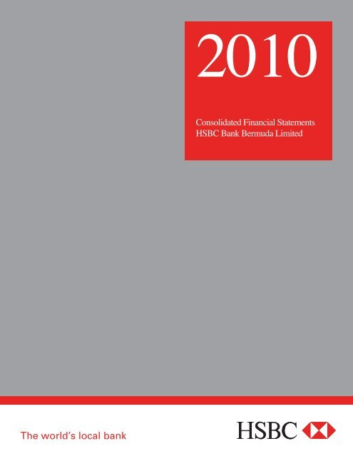 HSBC Bank Bermuda Limited 2010 Annual Report