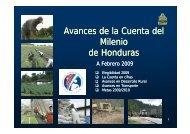 Avances de la Cuenta del Milenio de Honduras