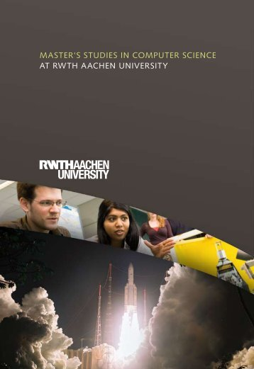 Master's studies in CoMputer sCienCe at rWtH aaCHen university