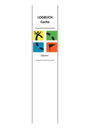 LOGBUCH Cache - Marcelcuvelier.de