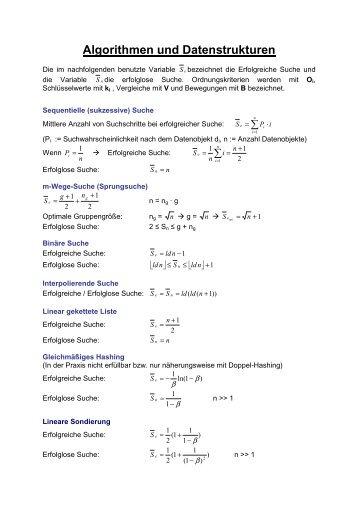 Algorithmen und Datenstrukturen - Marcel Cuvelier Startseite
