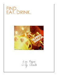 F.E.D. Las Vegas City Guide - Find. Eat. Drink.