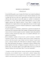 DISPORSI ALLA DISPONIBILITA' di Marcella Fazzi ... - Doppio Sogno