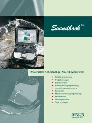 Messsystem Soundbook_MK1 - SINUS Messtechnik GmbH
