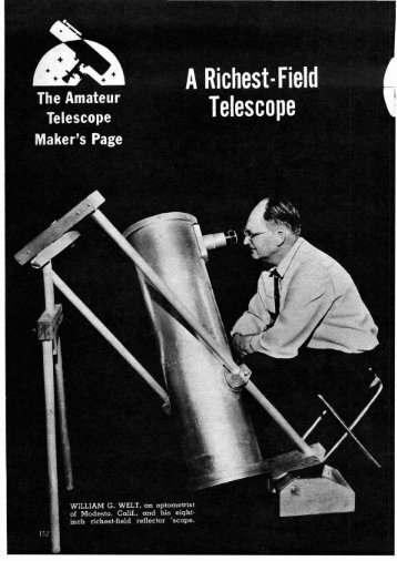 How to Build a Richest Field Telescope Plans - Vintage Projects